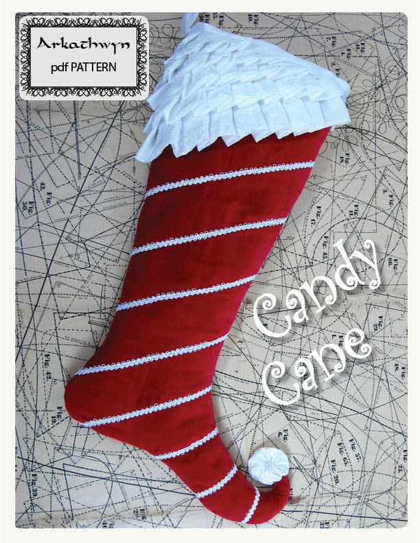 Candy Cane Christmas Stocking Pattern