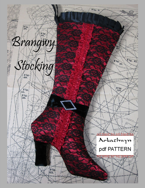 High Heel Christmas Stocking Pattern