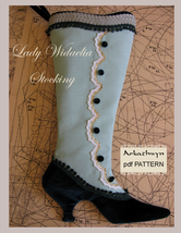 Ladies Victorian Stocking Pattern Lady Widaelia